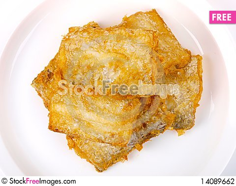 Free Fresh Fried Conger Fish Stock Photography - 14089662