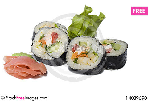 Free Rolled And Sushi Stock Photo - 14089690