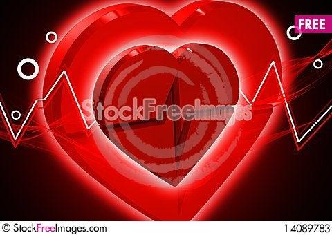 Free Heart ECG Stock Photos - 14089783