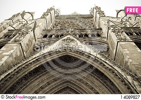 Free Tall Westminster Abbey Royalty Free Stock Photography - 14089827