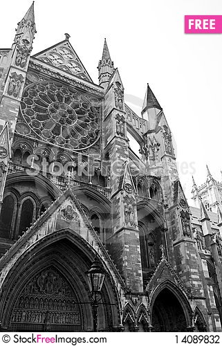 Free Black And White Image Of Westminster Abbey Stock Photography - 14089832