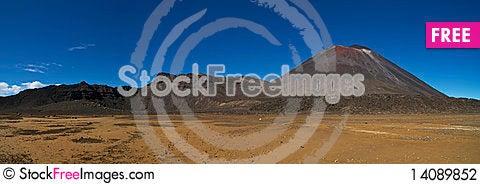 Free Tongariro Crossing Pano Stock Photography - 14089852