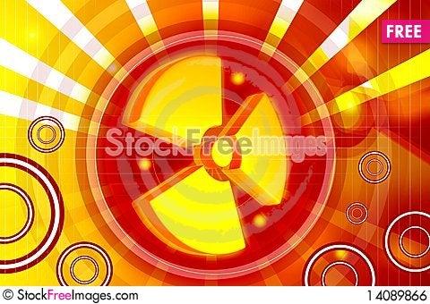 Free Radiation Symbol Royalty Free Stock Image - 14089866
