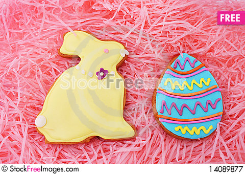 Free Easter Cookies Royalty Free Stock Photography - 14089877