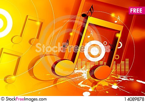 Free Musical Sign Royalty Free Stock Photos - 14089878