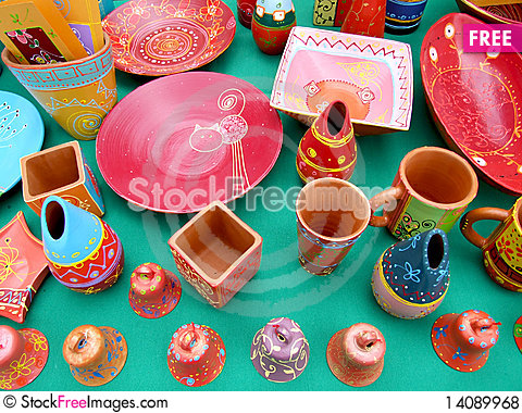 Free Colored Ceramic Objects Royalty Free Stock Photos - 14089968