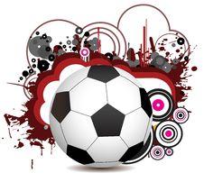 Abstract Football Creative Design Stock Photos