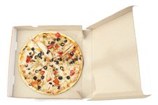 Free Pizza In Package Stock Photography - 14080192
