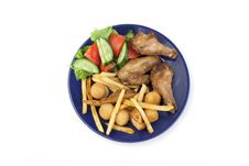 Free Set Of Takeaway Food Royalty Free Stock Photography - 14080197
