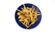 Free French Fry In A Plate Stock Photography - 14080202