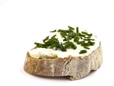 Free Bread With Curd Stock Photography - 14081372