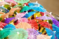 Coctail Umbrellas Royalty Free Stock Photography