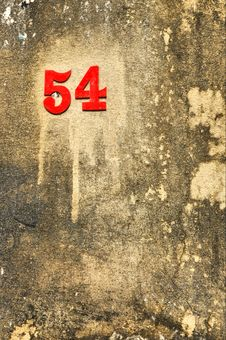 Free Fiftyfour Number Stick Crust Background Royalty Free Stock Images - 14081899