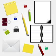 Free Stationery Royalty Free Stock Image - 14082216