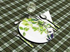 Free Vegetarian Flatware Stock Image - 14082221