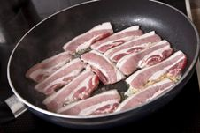 Free Frying Pork Royalty Free Stock Photography - 14082627