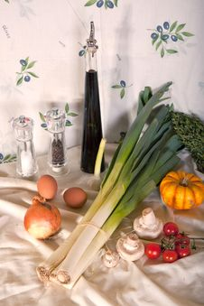 Still-life With Vegetables Stock Photos