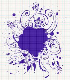 Free Ink-drawn Floral Royalty Free Stock Photo - 14083665
