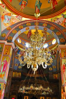 Chandelier In The Orthodox Church Royalty Free Stock Photo