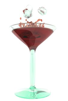 Color Cocktaile In Wineglass Stock Photography