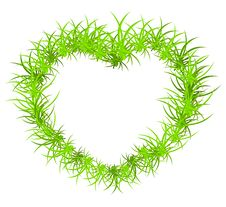 Free Vector Illustration Of Heart From Grass Stock Image - 14085341