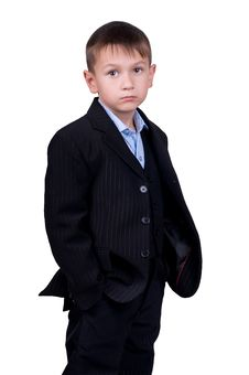 Free Young Boy In Business Wear Stock Photo - 14085400