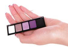 Free Eyeshadow In Human Hand Royalty Free Stock Images - 14086109