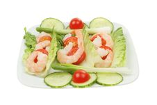 Free Prawn Salad Royalty Free Stock Photos - 14086668