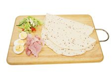 Free Bread Wraps And Ingredients Royalty Free Stock Photo - 14086715