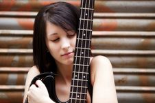Free Artist With Her Instrument Stock Photos - 14087073