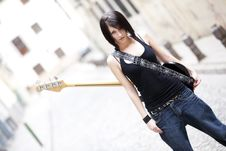 Free Young Female Guitarist Stock Photos - 14087103