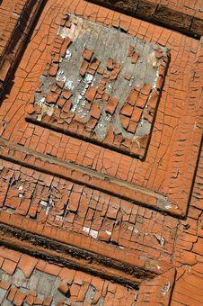 Old Painted Door Texture Stock Photo
