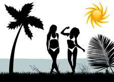 Free Women With Bikini Stock Image - 14088031