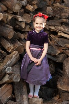 Snow White  Litle Girl Stock Image