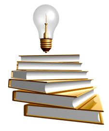 Golden Books And Ideas Bulb Royalty Free Stock Images