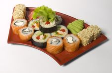 Free Rolled And Sushi Stock Photography - 14089692