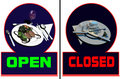 Free Restaurant Open-closed Stock Image - 14095931