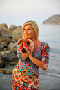 Free Young Pretty Woman On The Beach Royalty Free Stock Image - 14097726