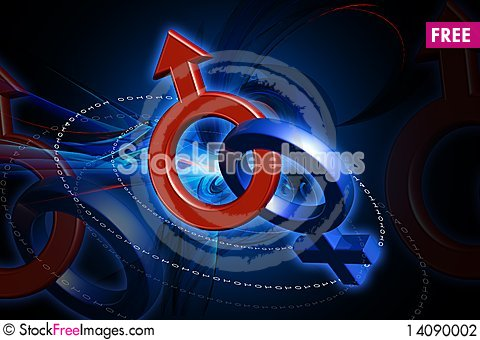 Free Male And Female Sign Stock Photography - 14090002