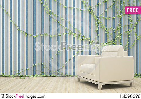 Free Armchair And Ivy Royalty Free Stock Photos - 14090098