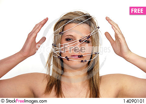 Free Woman With The Constellation Stock Image - 14090101