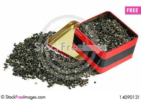 Free Green Tea Leaves Stock Image - 14090131