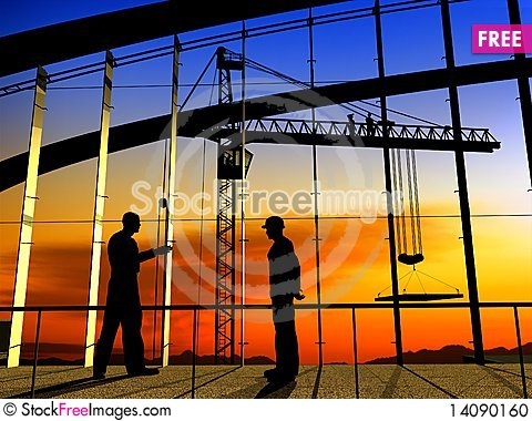 Free Group Of The Workers Stock Photo - 14090160