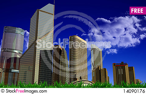 Free Modern Building Royalty Free Stock Image - 14090176