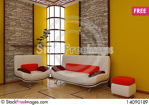 Free Interior Of Room Royalty Free Stock Images - 14090189