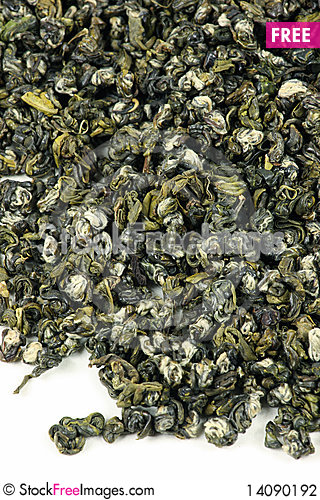 Free Green Tea Leaves Stock Photography - 14090192