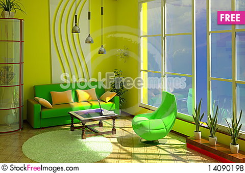 Free Interior Of Room Royalty Free Stock Photos - 14090198