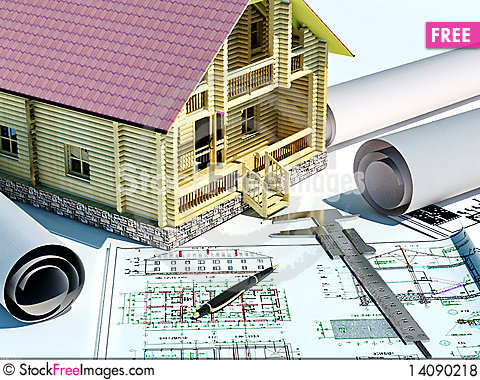 Free Model Of A House Royalty Free Stock Photos - 14090218