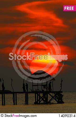 Free Sunset Silhouette Stock Images - 14090314
