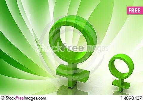Free Female Symbol Royalty Free Stock Photography - 14090407